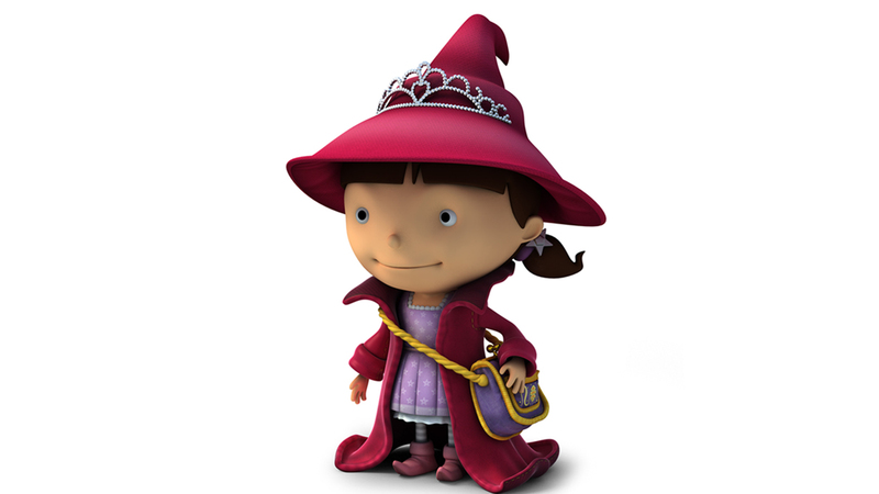 3d render of Evie character from Mike the Knight