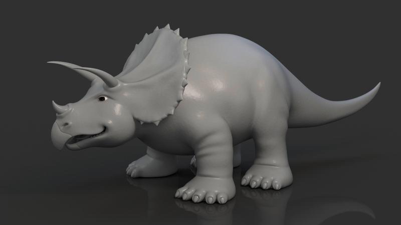 Greyscale of dinosaur STOMP
