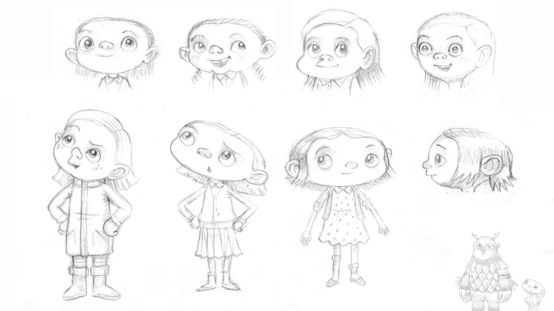 Initial character development sketches Lila