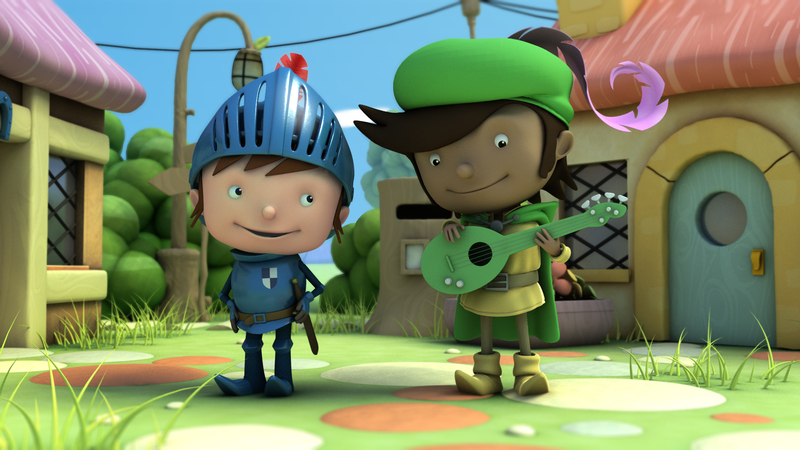 Render of Mike the Knight and Fernando in Village