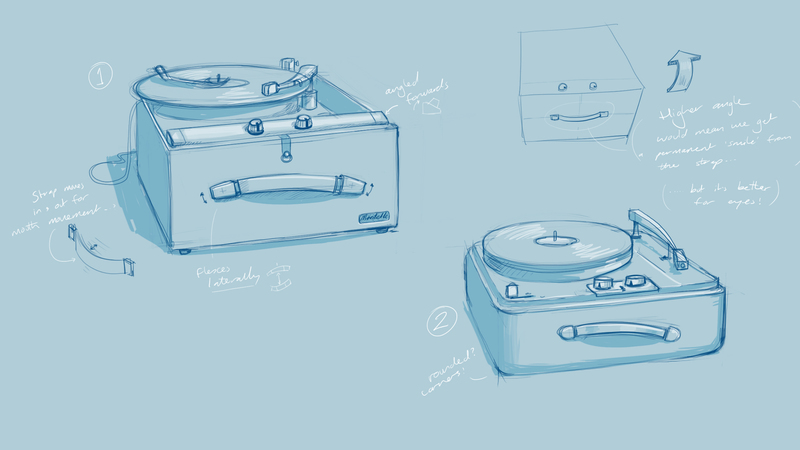 Rough character sketch of Record Player