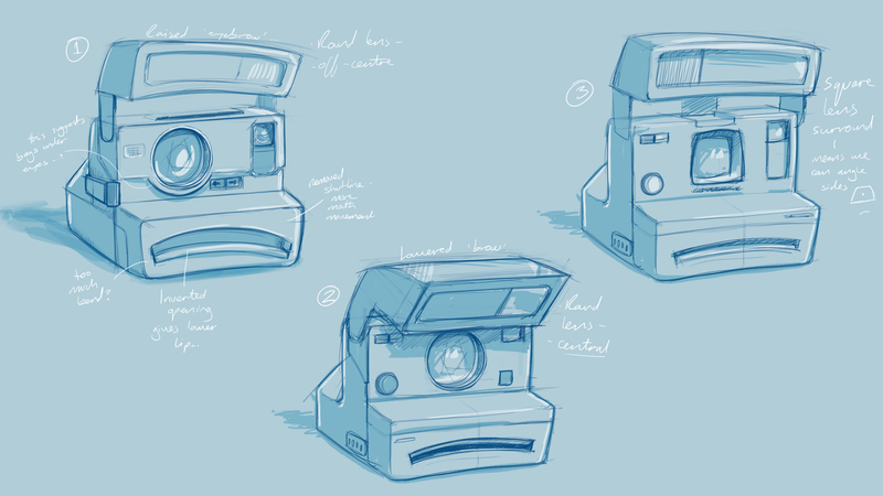 Rough character sketch of Instant Camera