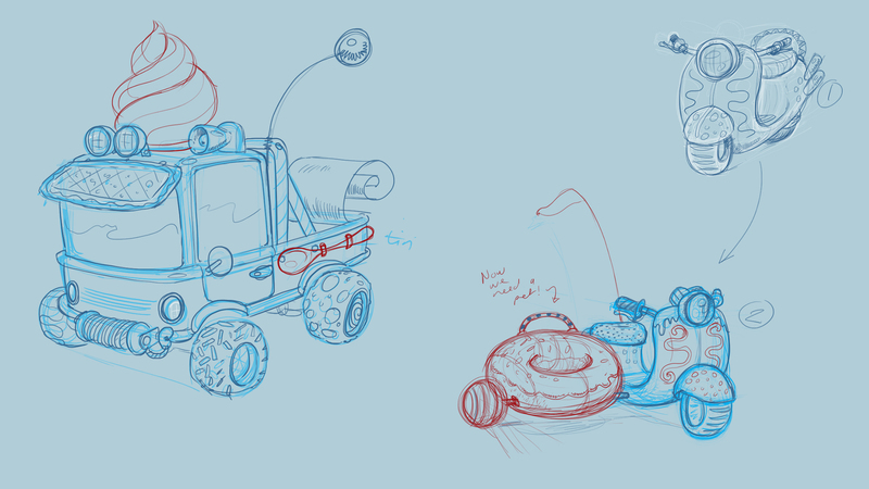 Vehicle designs from The Cookpot Gang