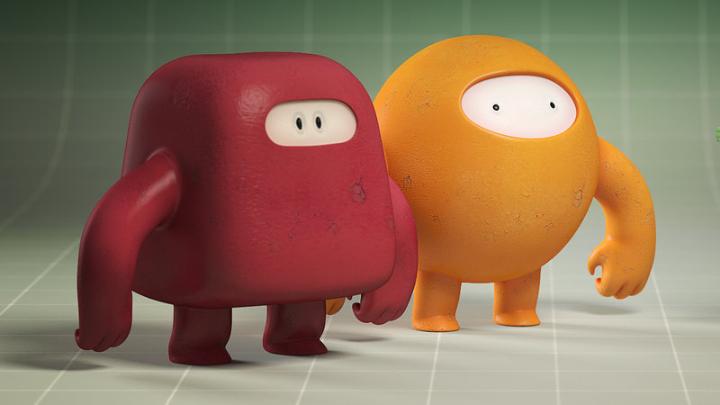 Character group render for animation