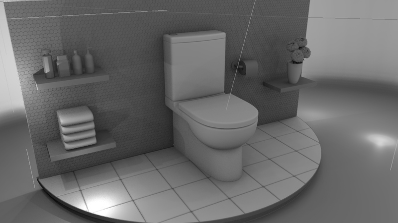 Toilet stage grayscale