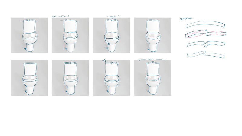 rough sketches of the loos expressions