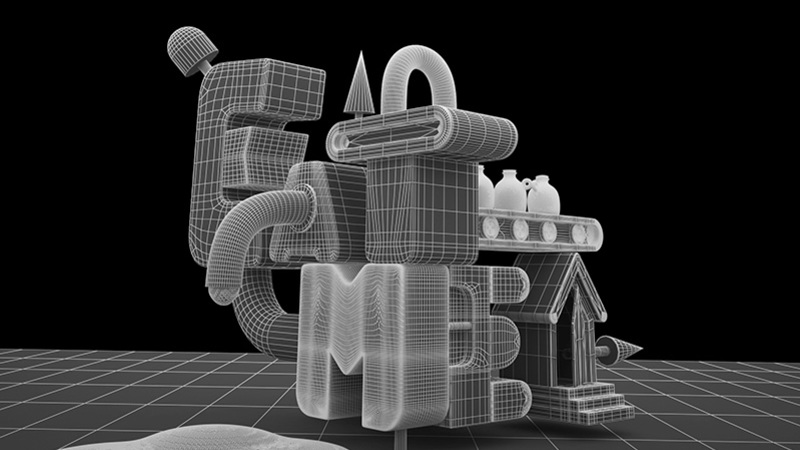 Eat Me wireframe render