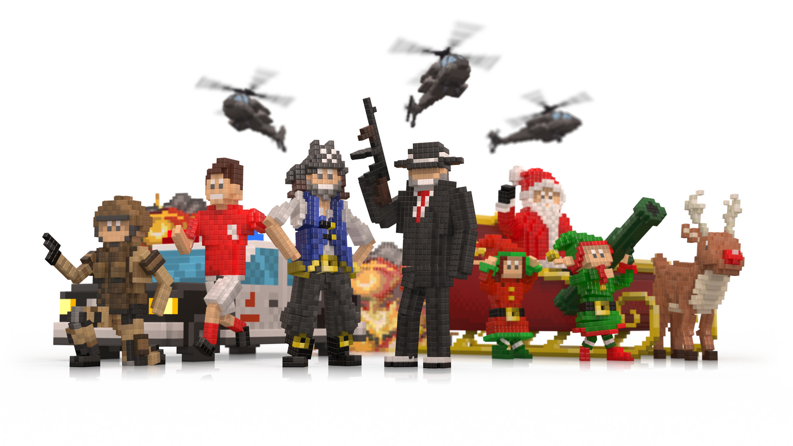 Render of all the GAME characters together