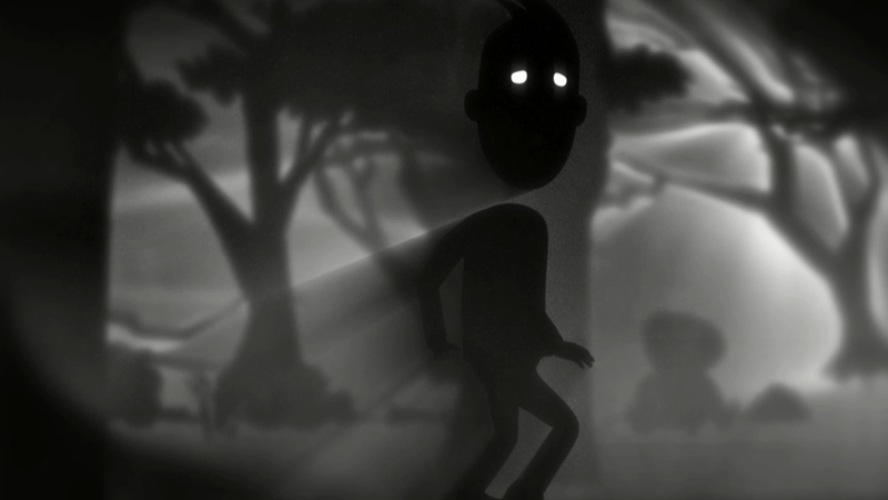 still from the animation The boy I used to know. The boy walking