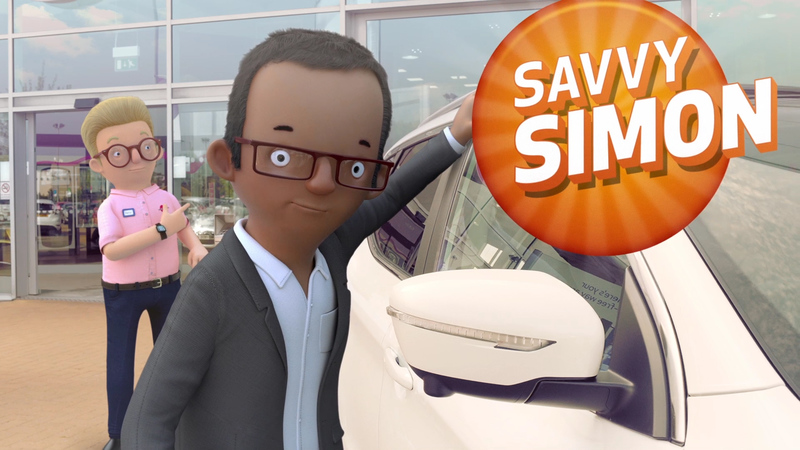 3D Still from the latest TV ad for the Car People, 'Quality and Value' showing Savvy Simon