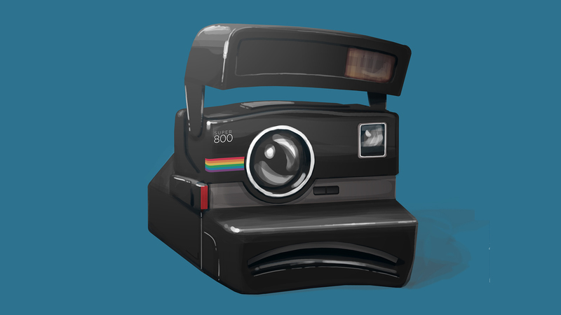 Colour artwork of Instant Camera