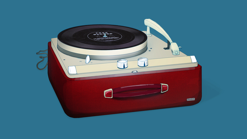 Colour artwork of Record Player