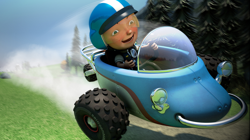 3d still of Jack Mach speeding through the Valley