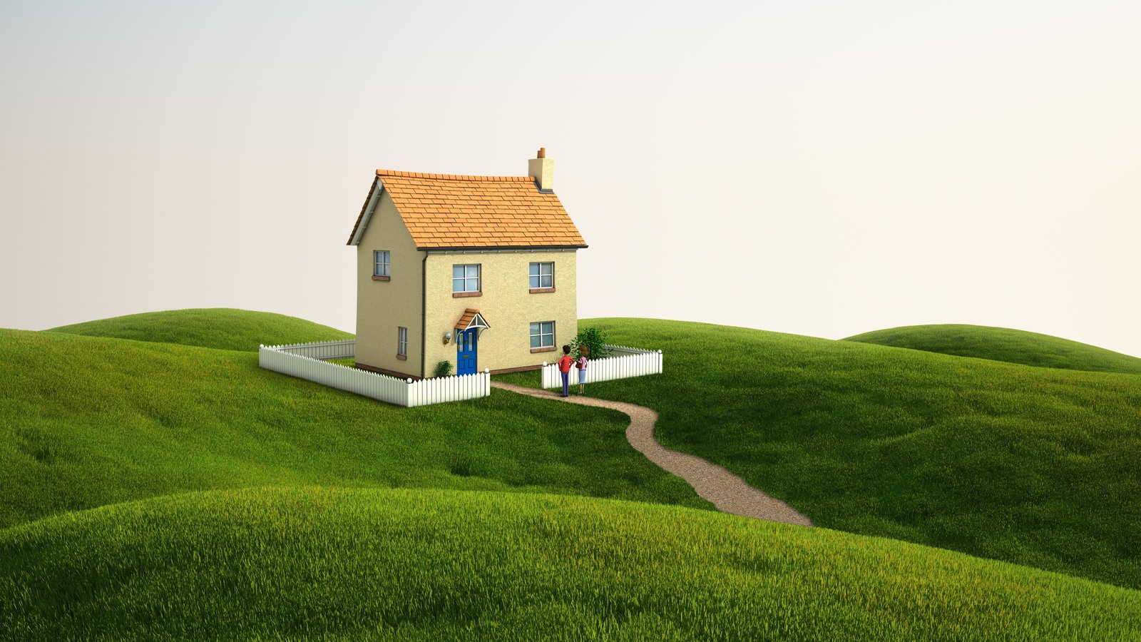 3d render house