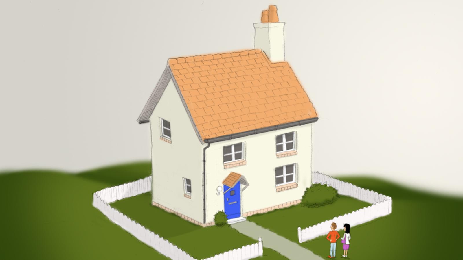 colour artwork of house