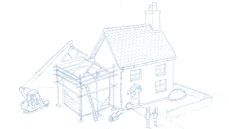 rough sketch of house
