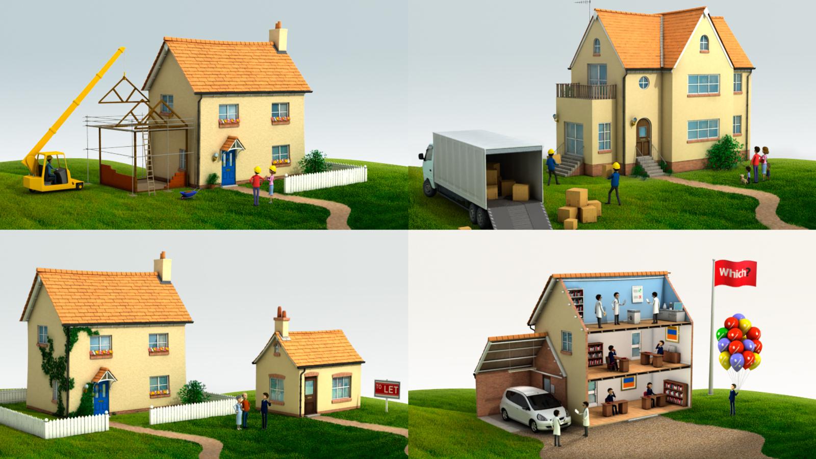 Final 3d render of house