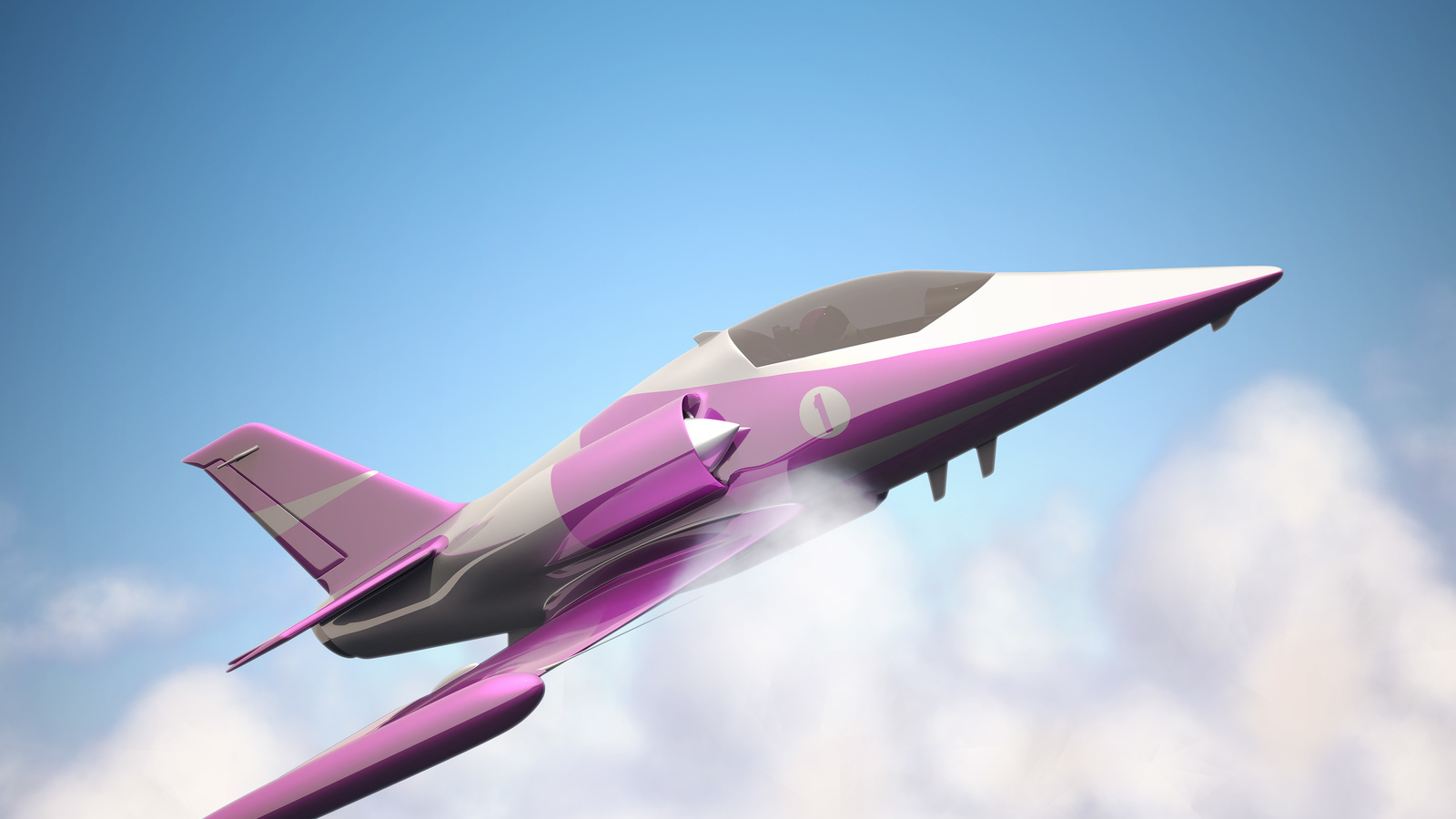 Frame of jet plane from Concentric animation