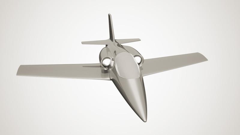Jet greyscale render