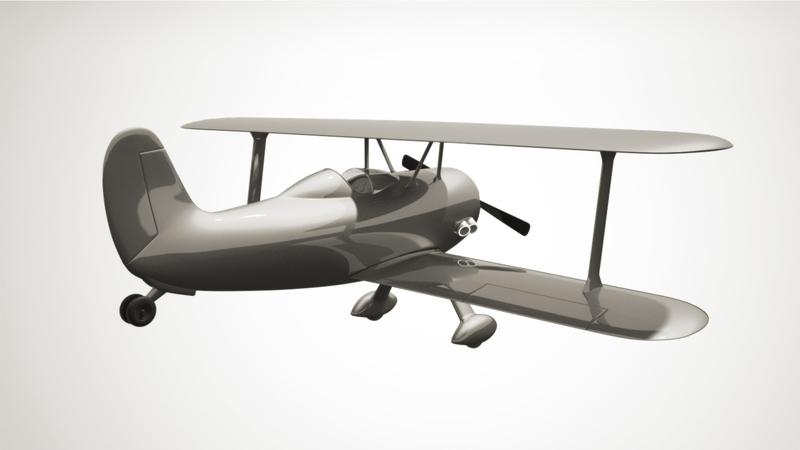 bi plane greyscale render