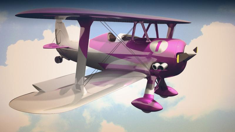 bi plane colour render