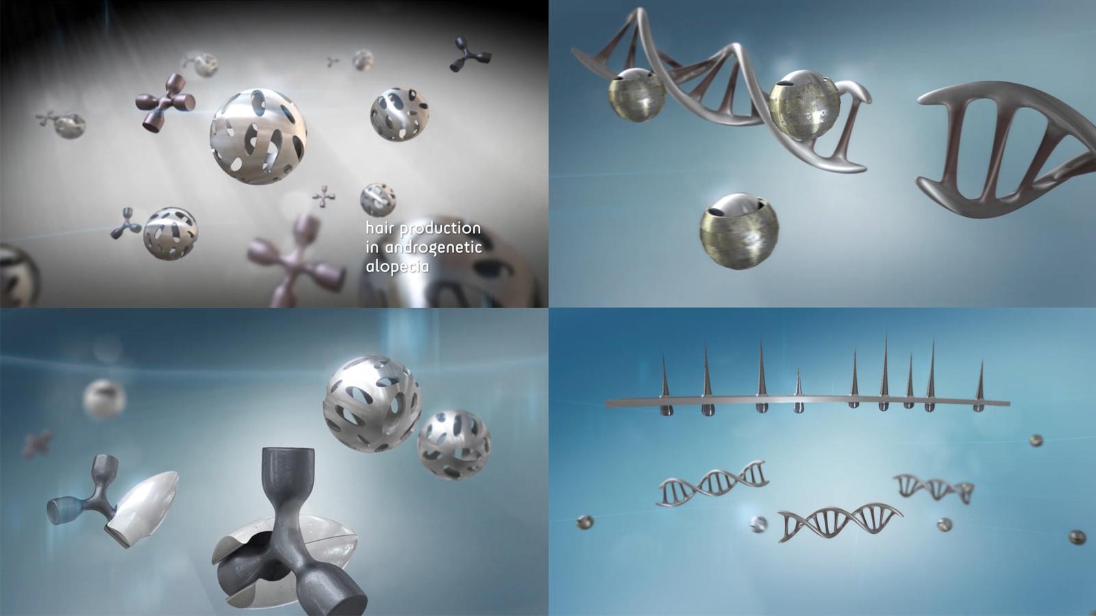 frames from molecular harmony animation