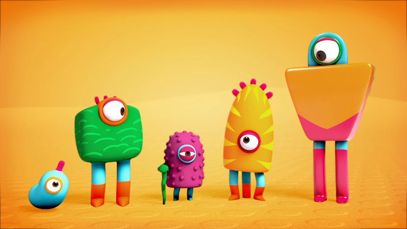 characters from vitamin d testing animation