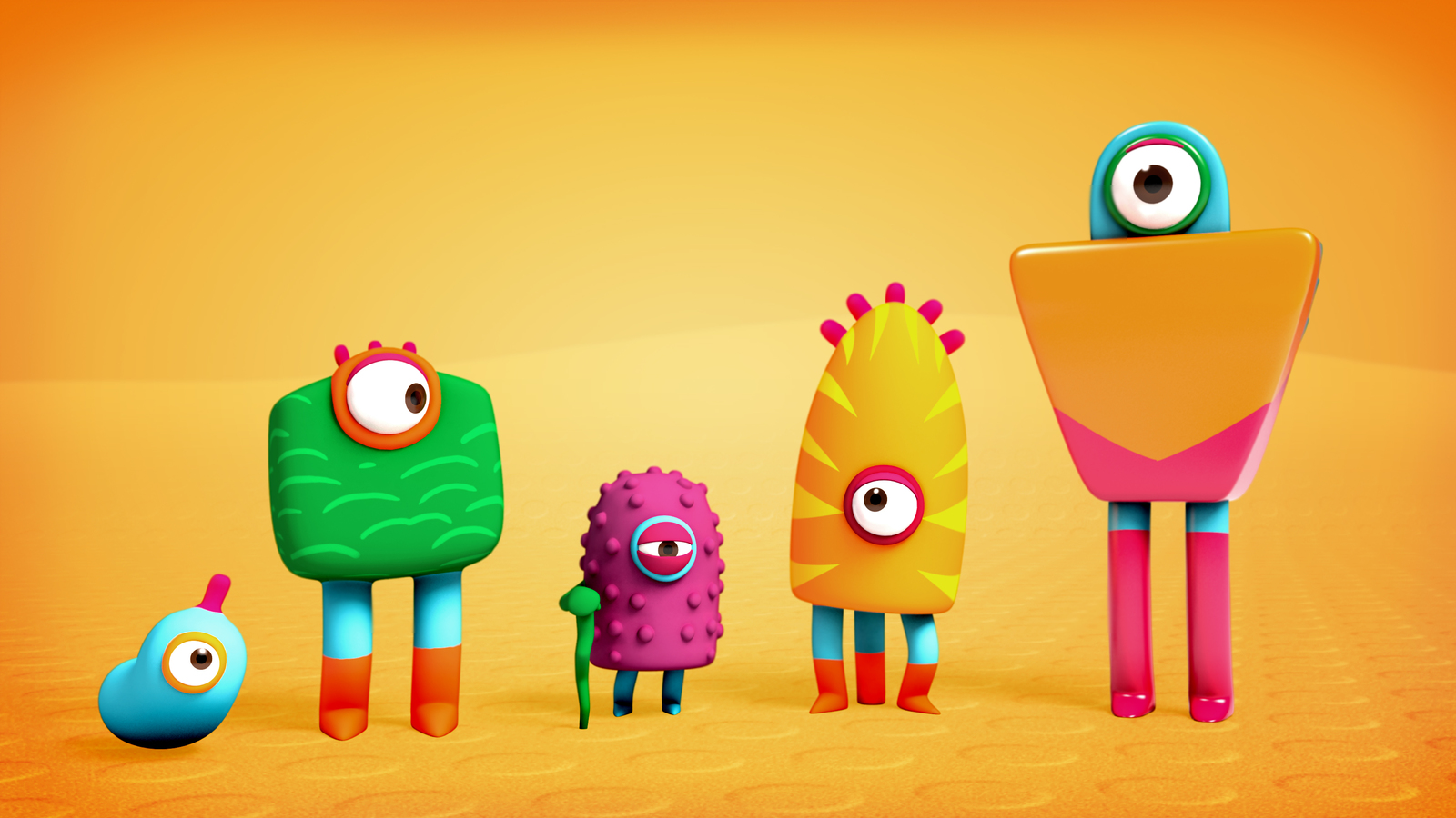 final 3d render of characters