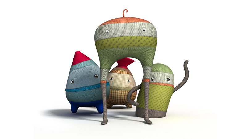 Group render of the characters from the animation