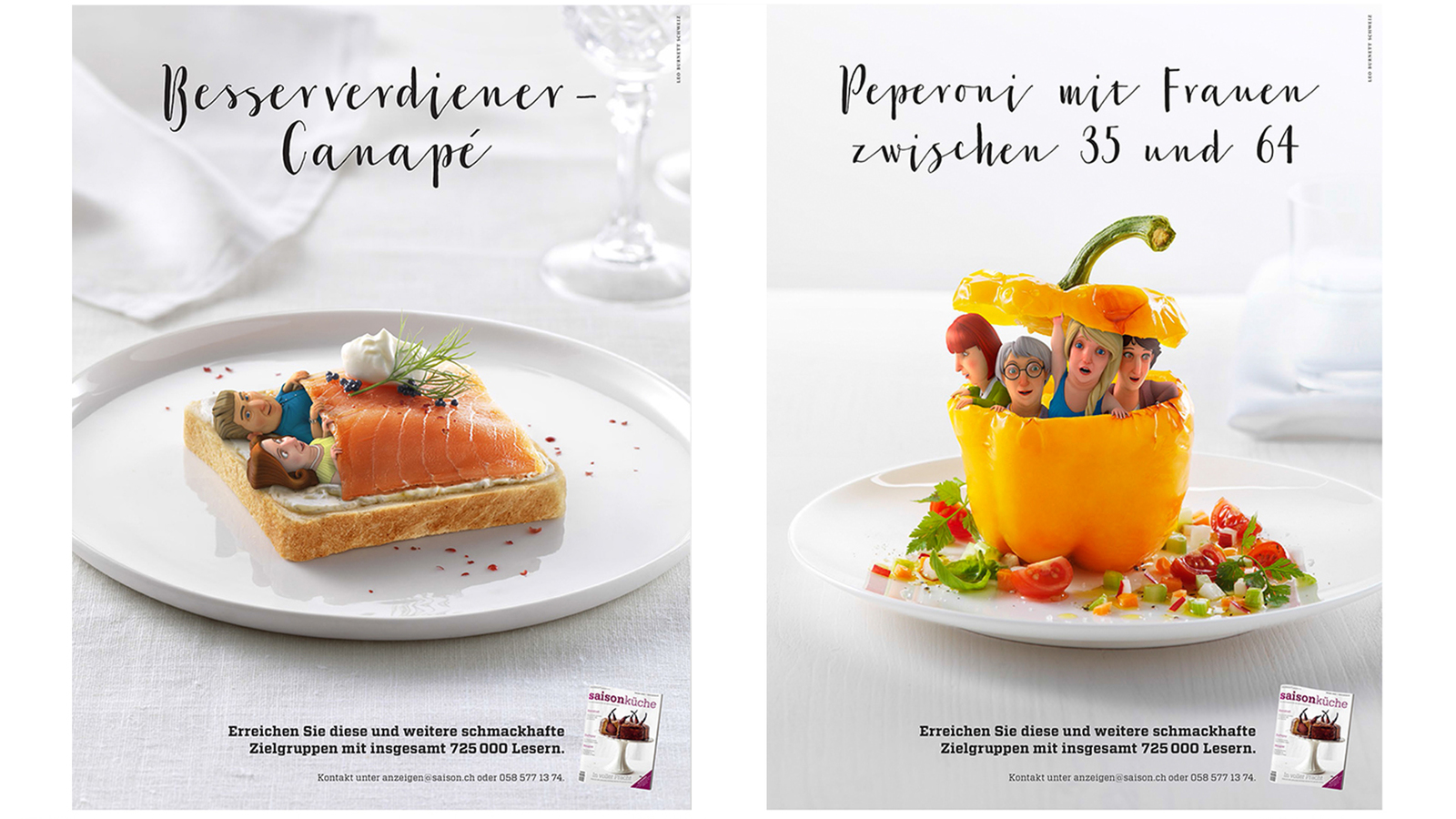 2 of the final images on magazine layout for Saison Kuche