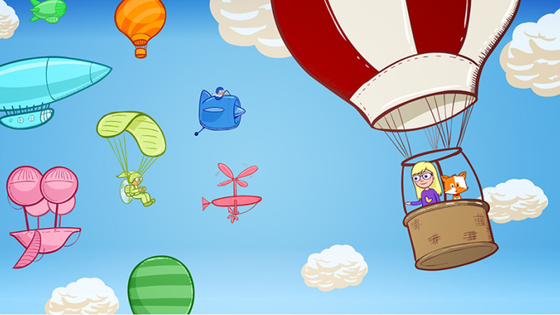 Style setting, colour artwork for Balloon Ride