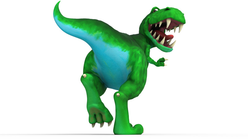 render of ROAR character from Dinosaur ROAR
