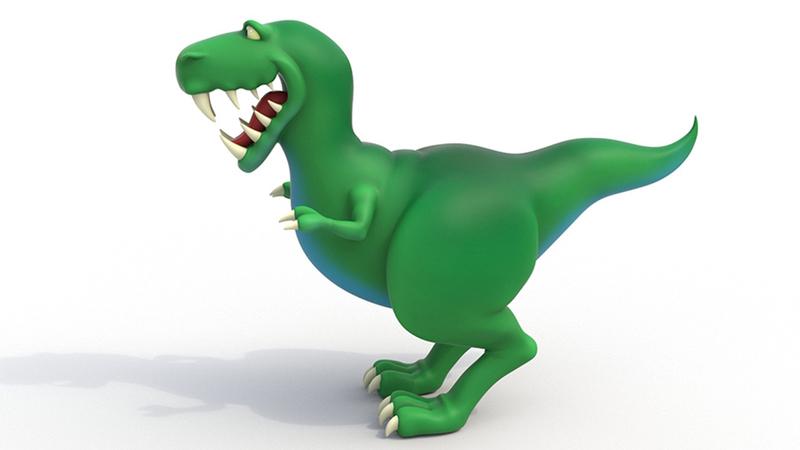 Colour render of Dinosaur ROAR, no texture